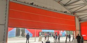 ПВХ-ворота шторного типа