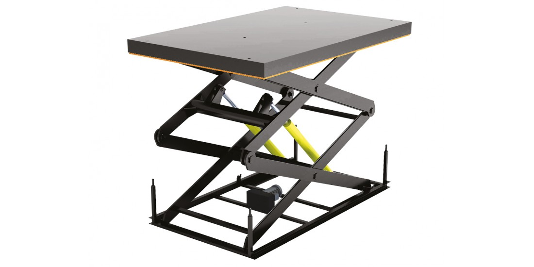 Стол подъемный с двумя парами ножниц серии 2LT