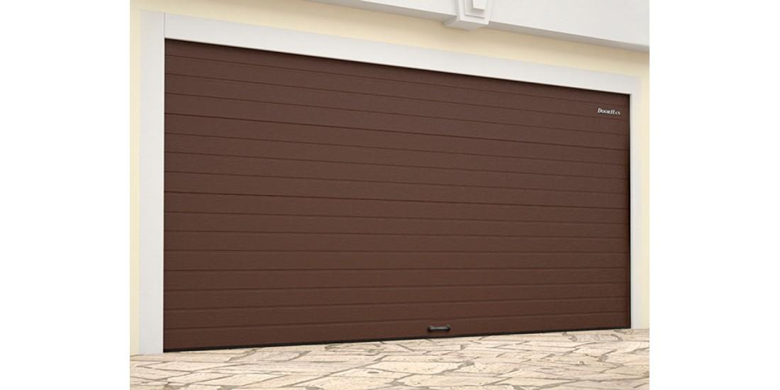 Гаражные секционные ворота стандартных размеров с пружинами растяжения RSD01BIW-SC