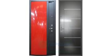 Стальная дверь ДС 3 «Глянец красный»