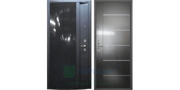 Стальная дверь ДС 3 «Глянец черный»