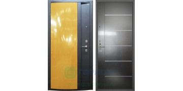 Стальная дверь ДС 3 «Глянец желтый»