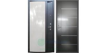 Стальная дверь ДС 3 «Глянец белый»