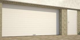 Гаражные секционные ворота с пружинами растяжения RSD01BIW