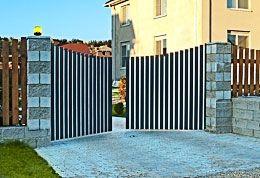 Типы монтажа распашных ворот и калиток